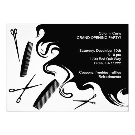 Hair Salon Grand Opening Party Invitation Beauty School