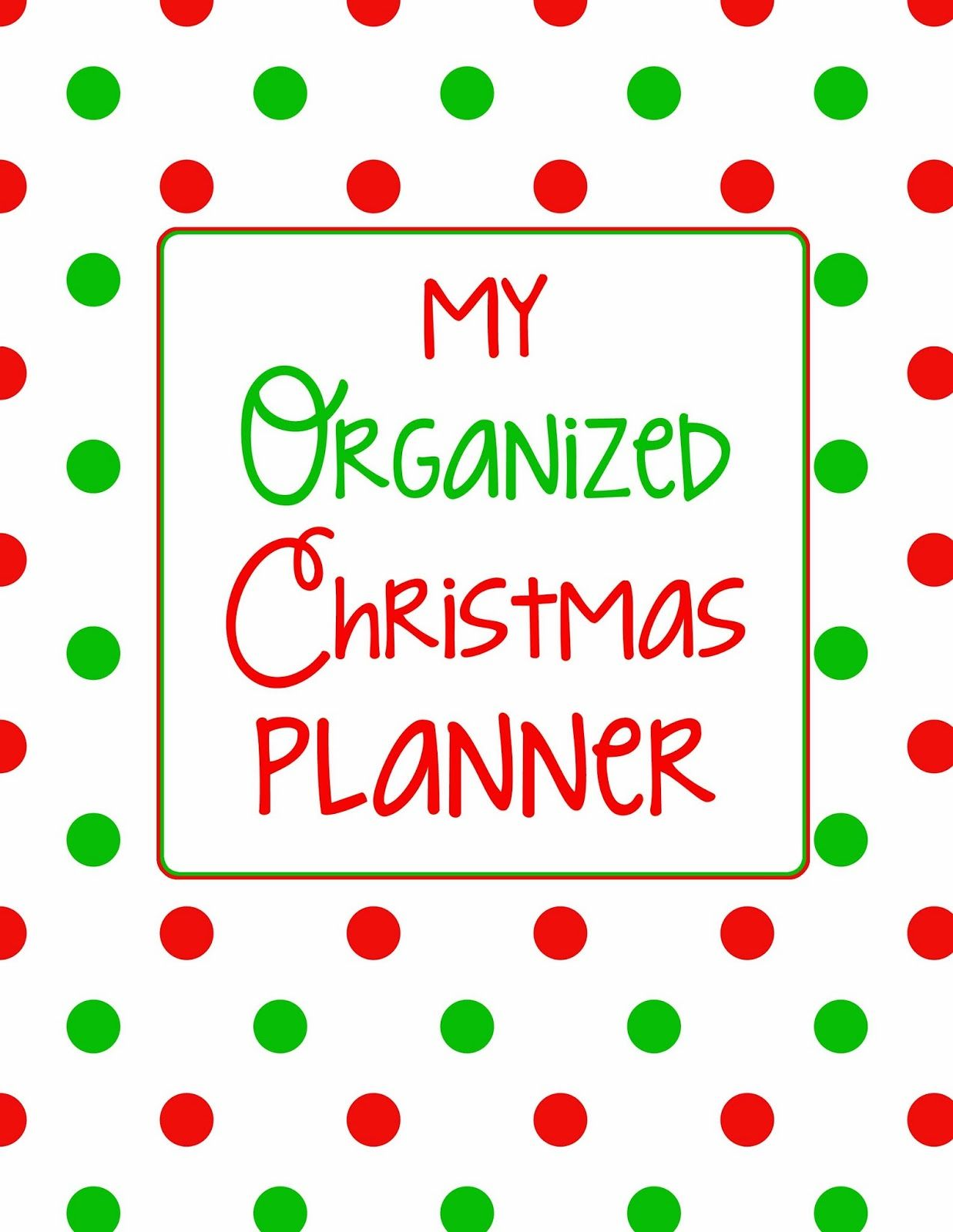25 Days to an Organized Christmas: Create a Christmas Planner - Here Comes The Sun