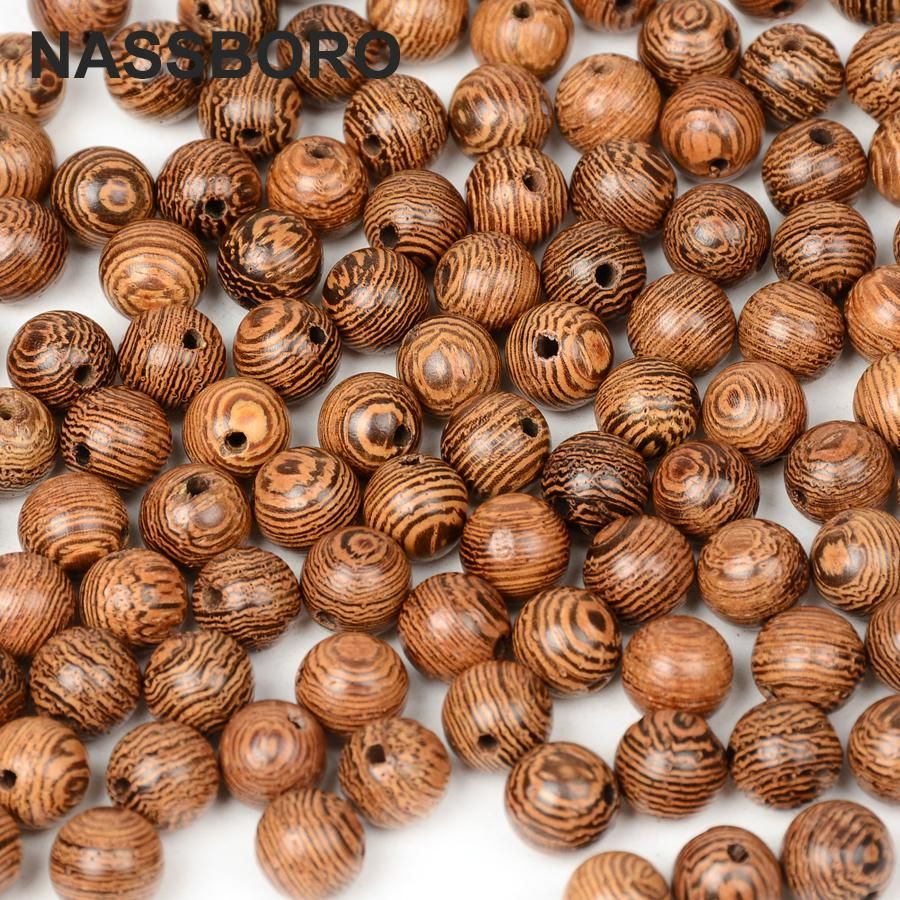 A quality wooden beads round wenge wood beads for jewelry making