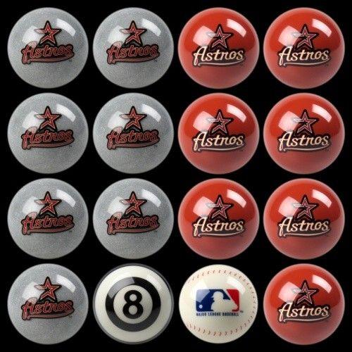 Houston Astros Home Vs Away Billiards/Pool Table Ball Set
