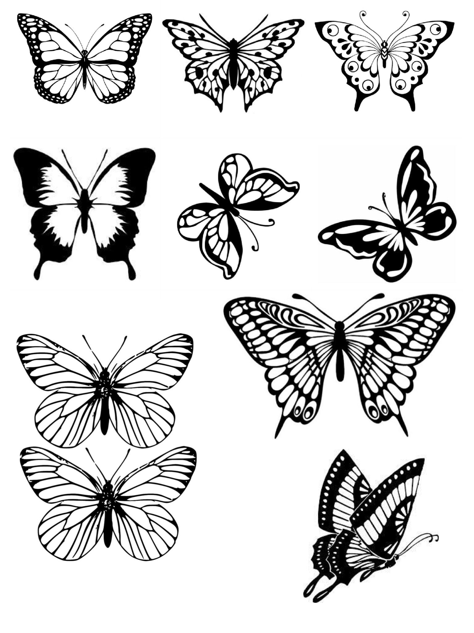 Pin by Doyle on Wings Butterfly tattoo, Butterfly drawing