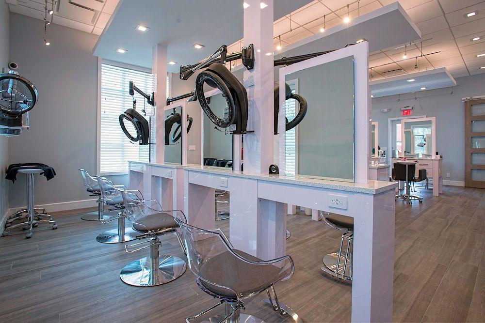 Glaze Salon Custom Hair Color Processing Stations By Salon Interiors Inc Salon Interior Beauty Salon Decor Home Salon