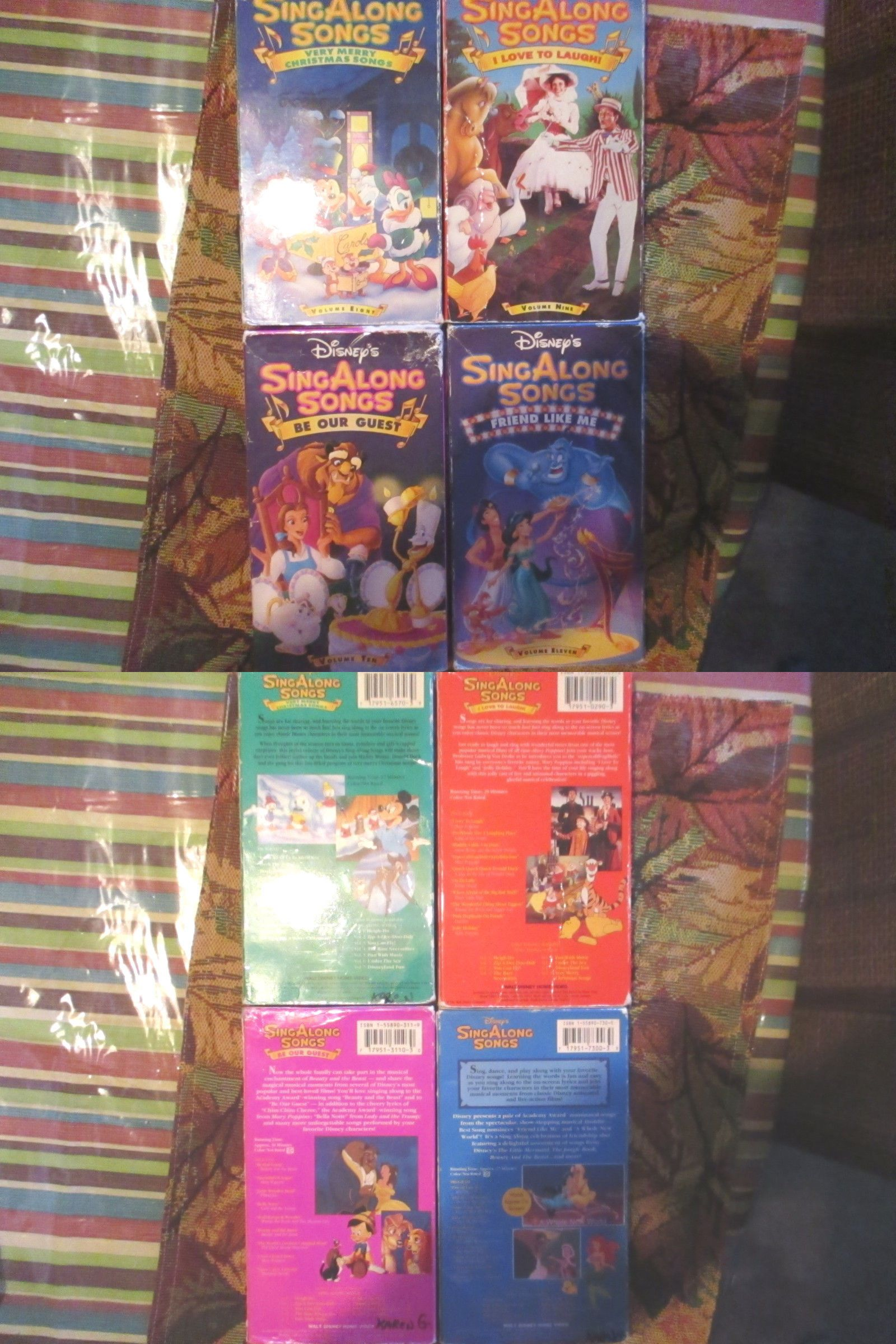 Christmas Songs And Album: Lot Of 4 Disney Sing Along Songs Vhs ...