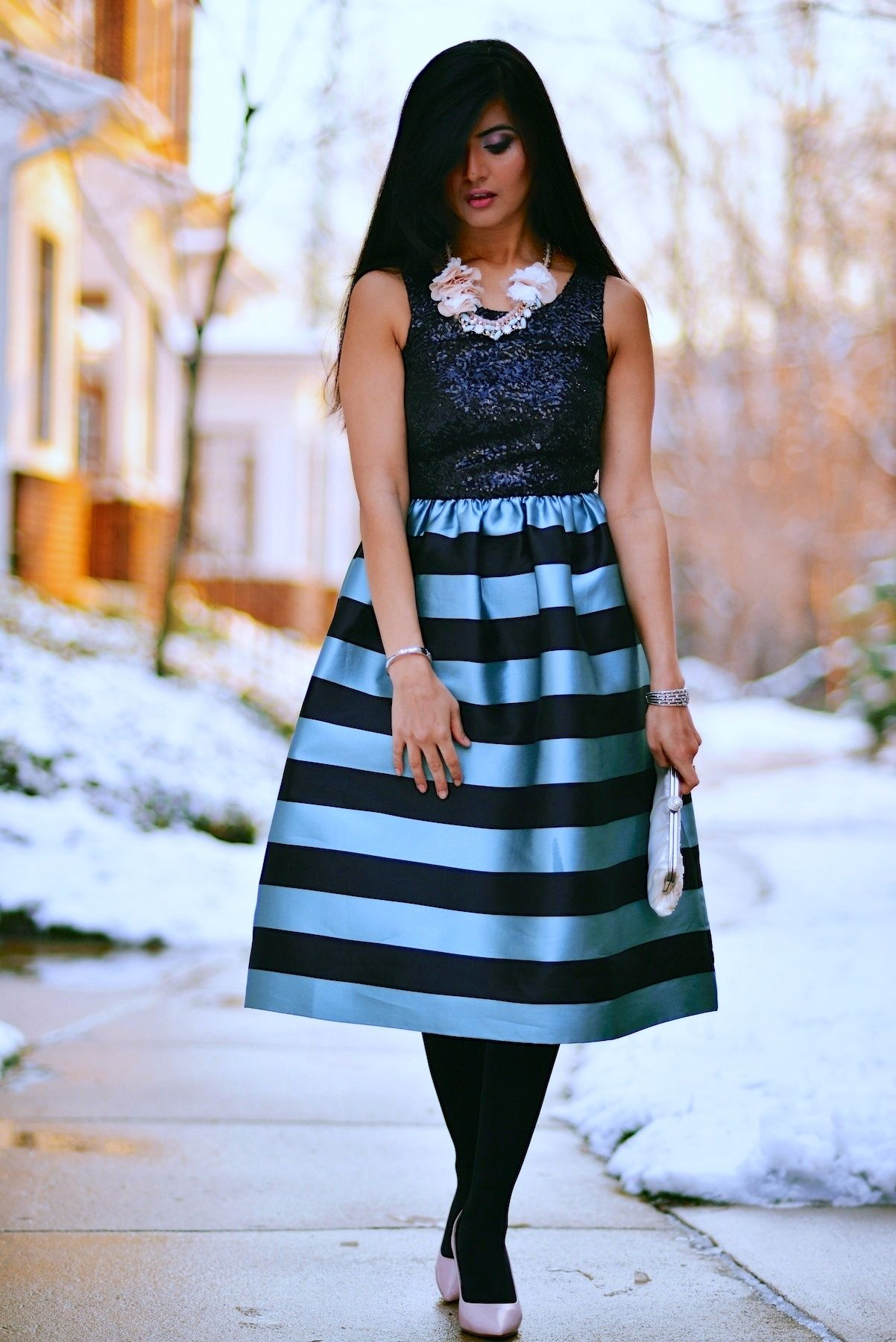 Fit And Flare Midi Skirt - Dress Ala