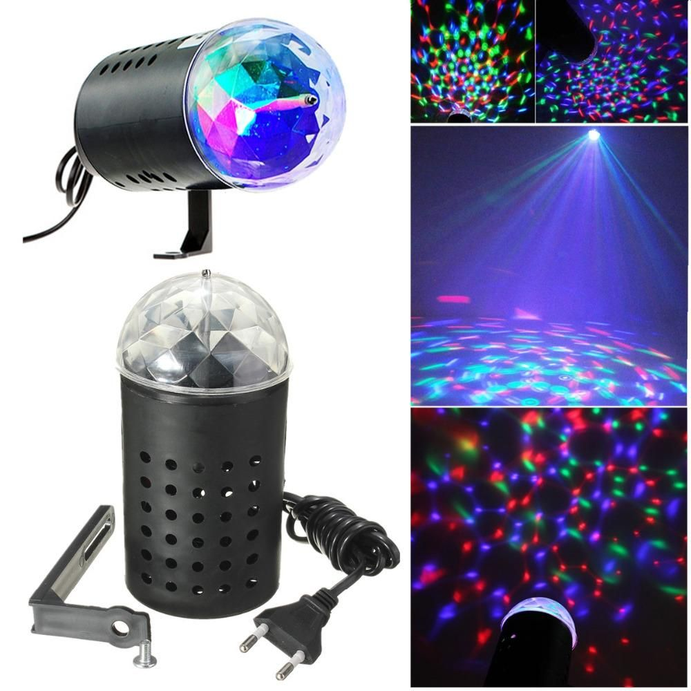 EU/US Plug New RGB 3W Crystal Magic Ball Laser Stage Lighting For Party  Disco