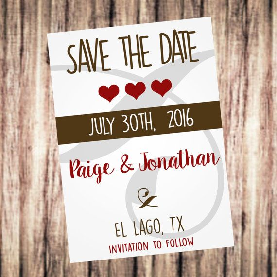 Save The Date by SweetTeaSpecialties on Etsy