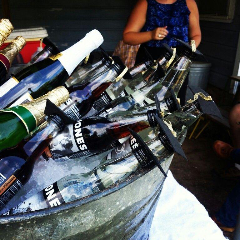 """Jones soda """"grad cap"""" bottles!!"""