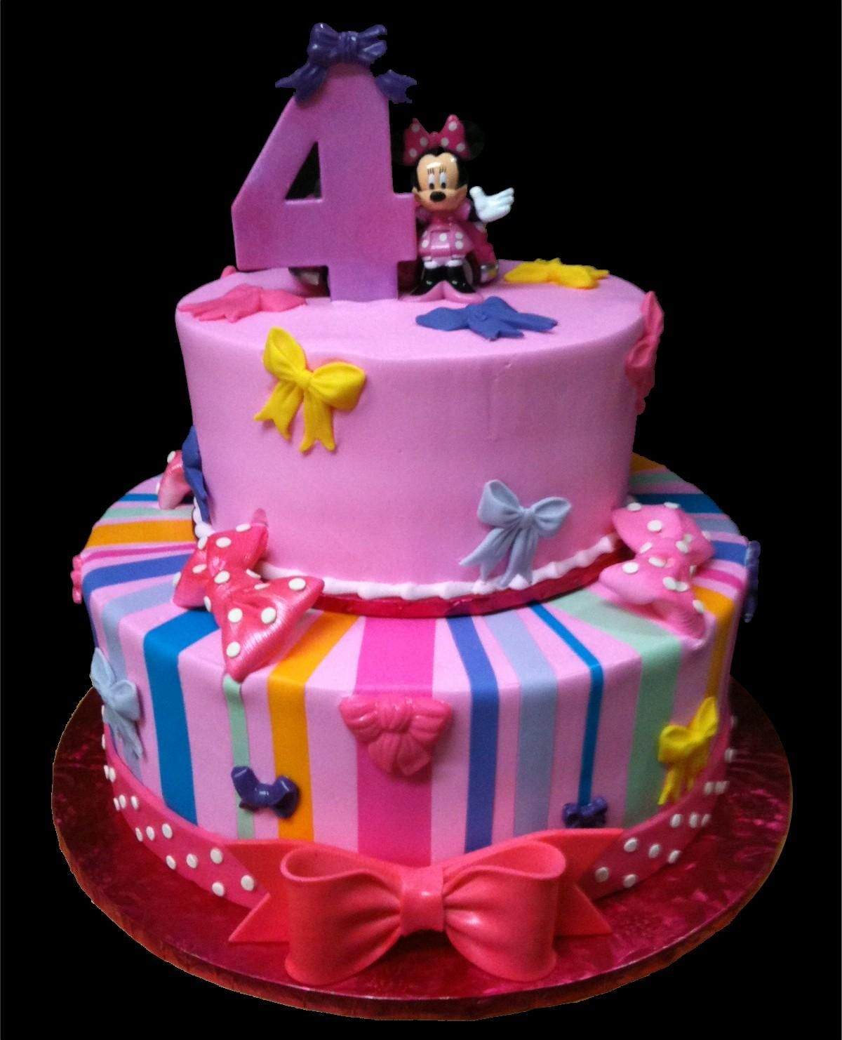 Minnie Mouse Bowtique Birthday Cake, Pink Buttercream Iced