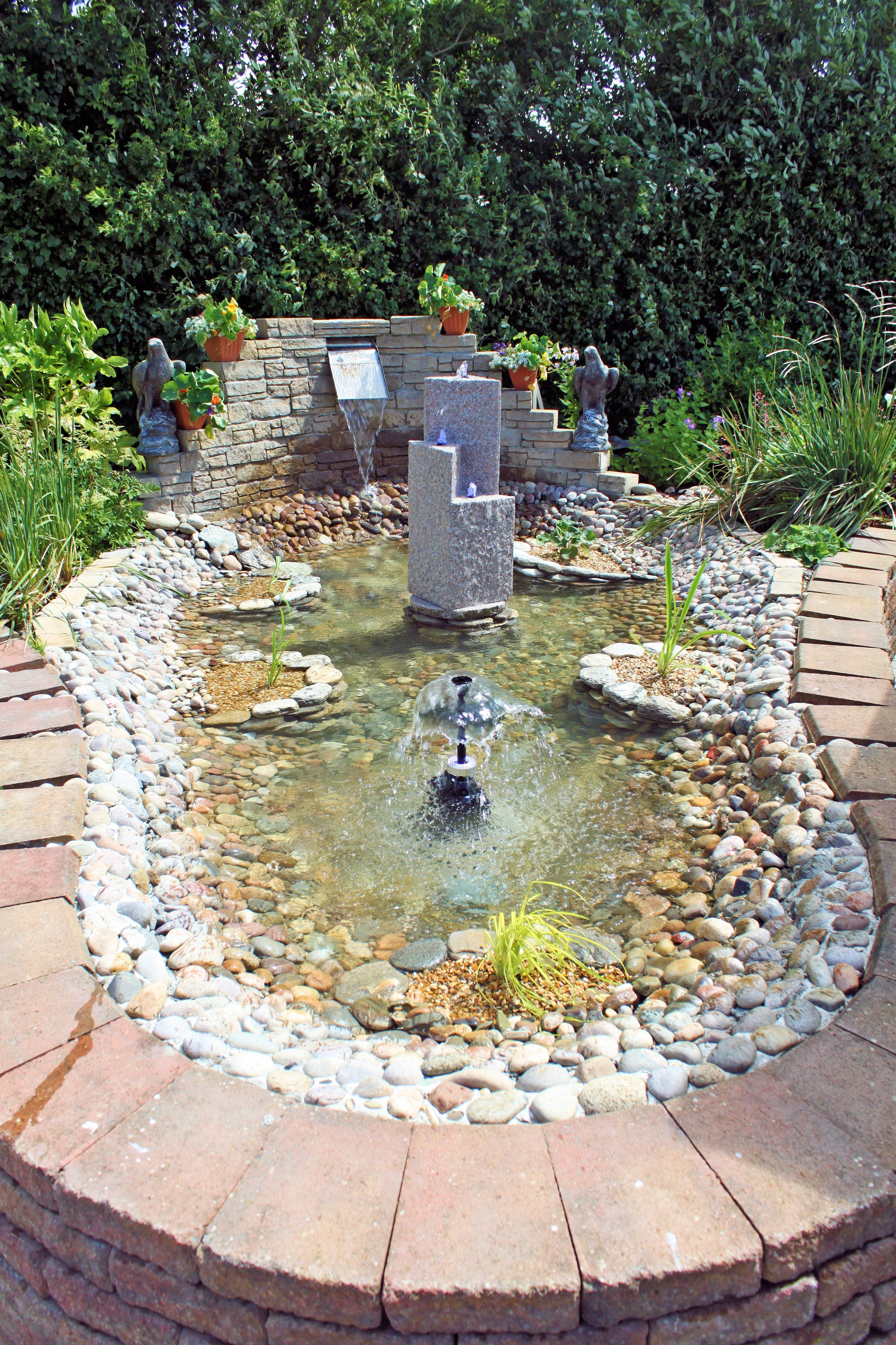 Raised Wildlife Pond with 3 Water Features. More on www ...