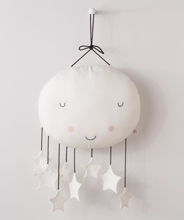 Add our Man in the Moon wall hanging to baby's nursery for a sweet and modern flair.
