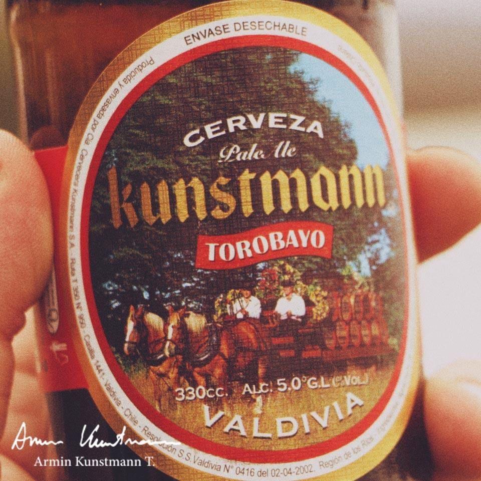 Cerveza Kunstmann de Valdivia, Chile.