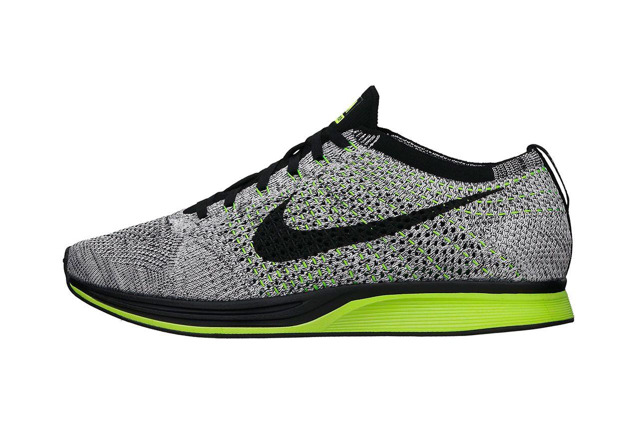 Nike Flyknit Racer BlackVoltWhite Nike Womens ShoesNike