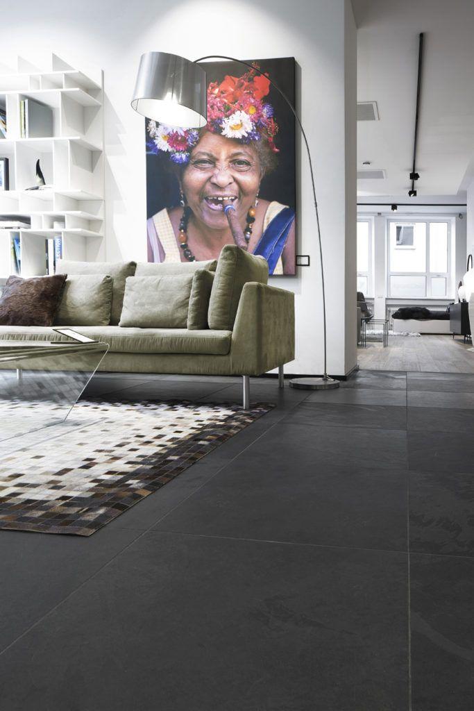 Greyhound Black Schiefer Naturstein | Fliesen wohnzimmer ...