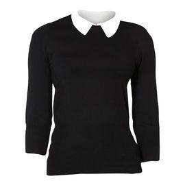 Bluse m. hvid krave - Bluser - Magasin Onlineshop - Køb dine varer og gaver online