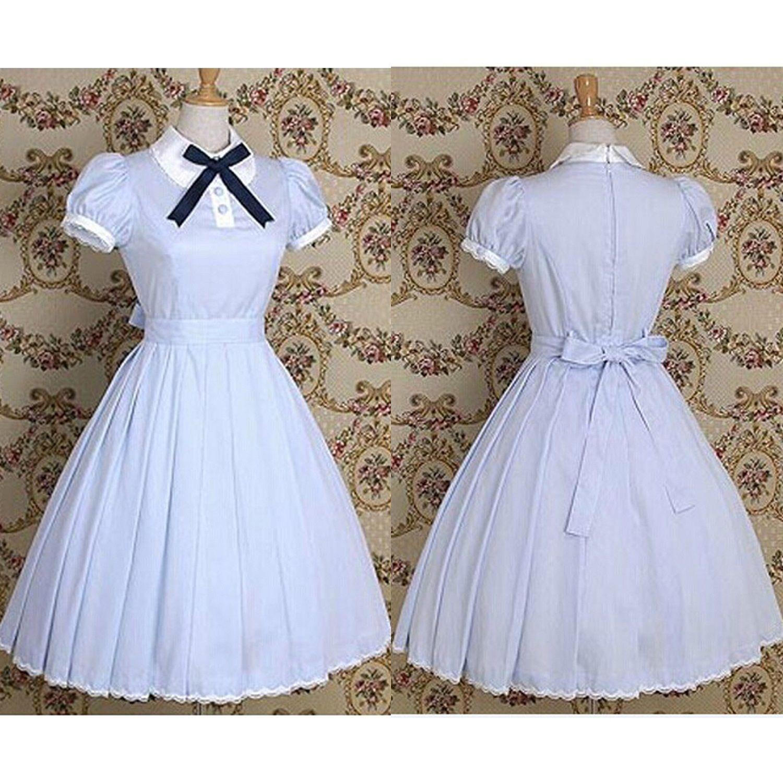 Gothic Handmade Lolita Weiß Kleid Cosplay Costumes Kostüm Neu | eBay ...