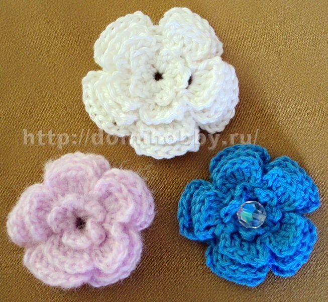 Вязаные цветы 7