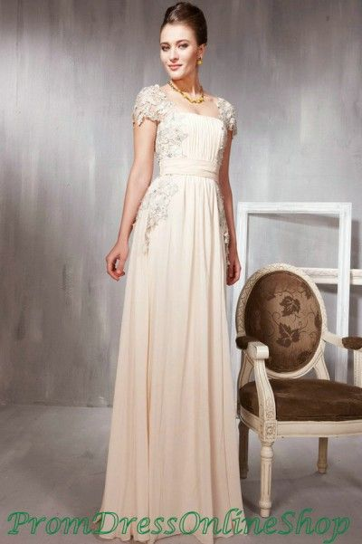 9d1e15537d1f1 Gorgeous Chiffon Lace Cap Sleeves Modest Long Evening Dress Patterns Elegant  Cheap For Sale