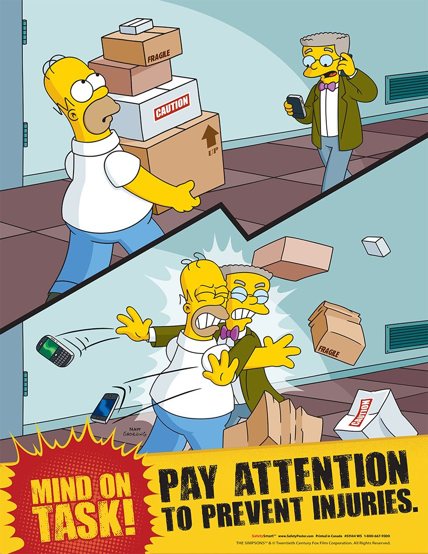 simpsons poster safety responsibility posters simpsons