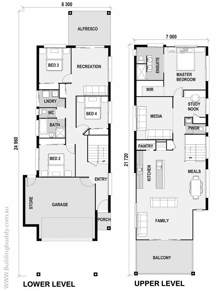 Grivellia - Small Lot House Floorplan by http://www.buildingbuddy ...