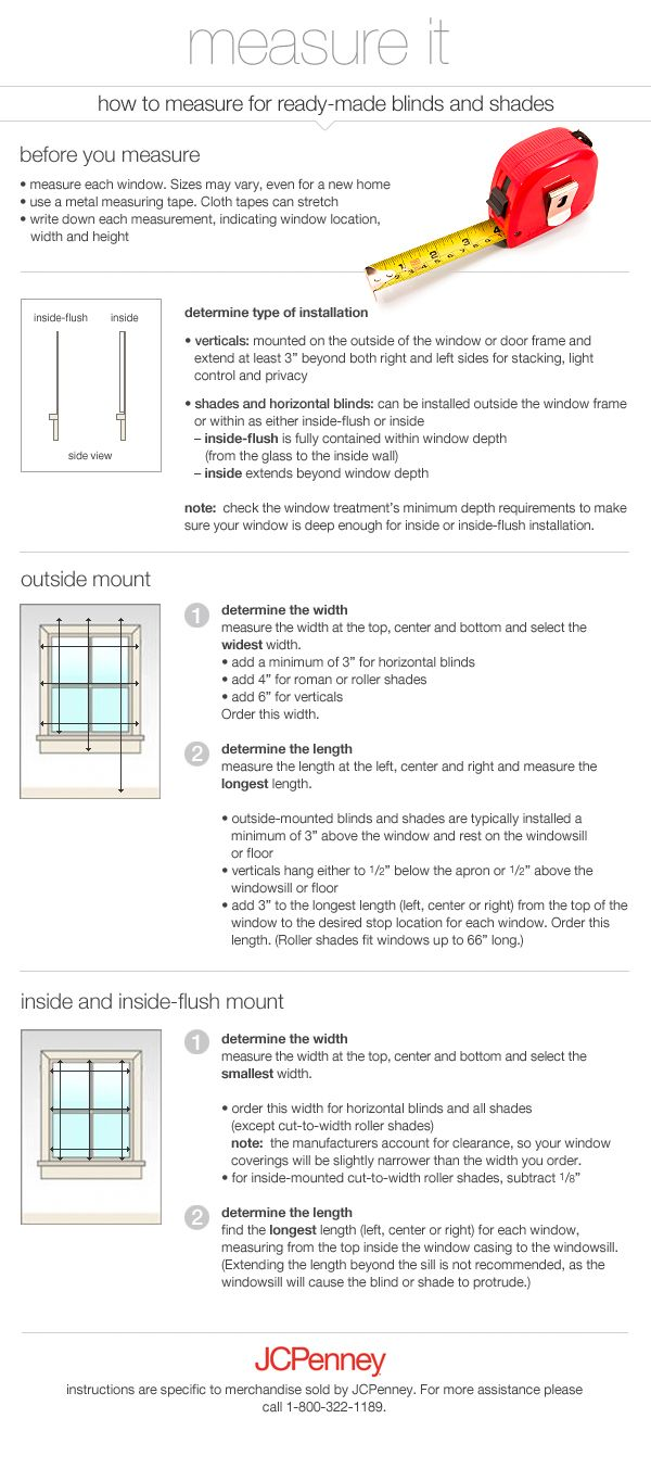 How To Measure For Blinds Roller Courtesy Of Jcpenney S Home Store Shades Blinds Blackout Roller Shades Windows