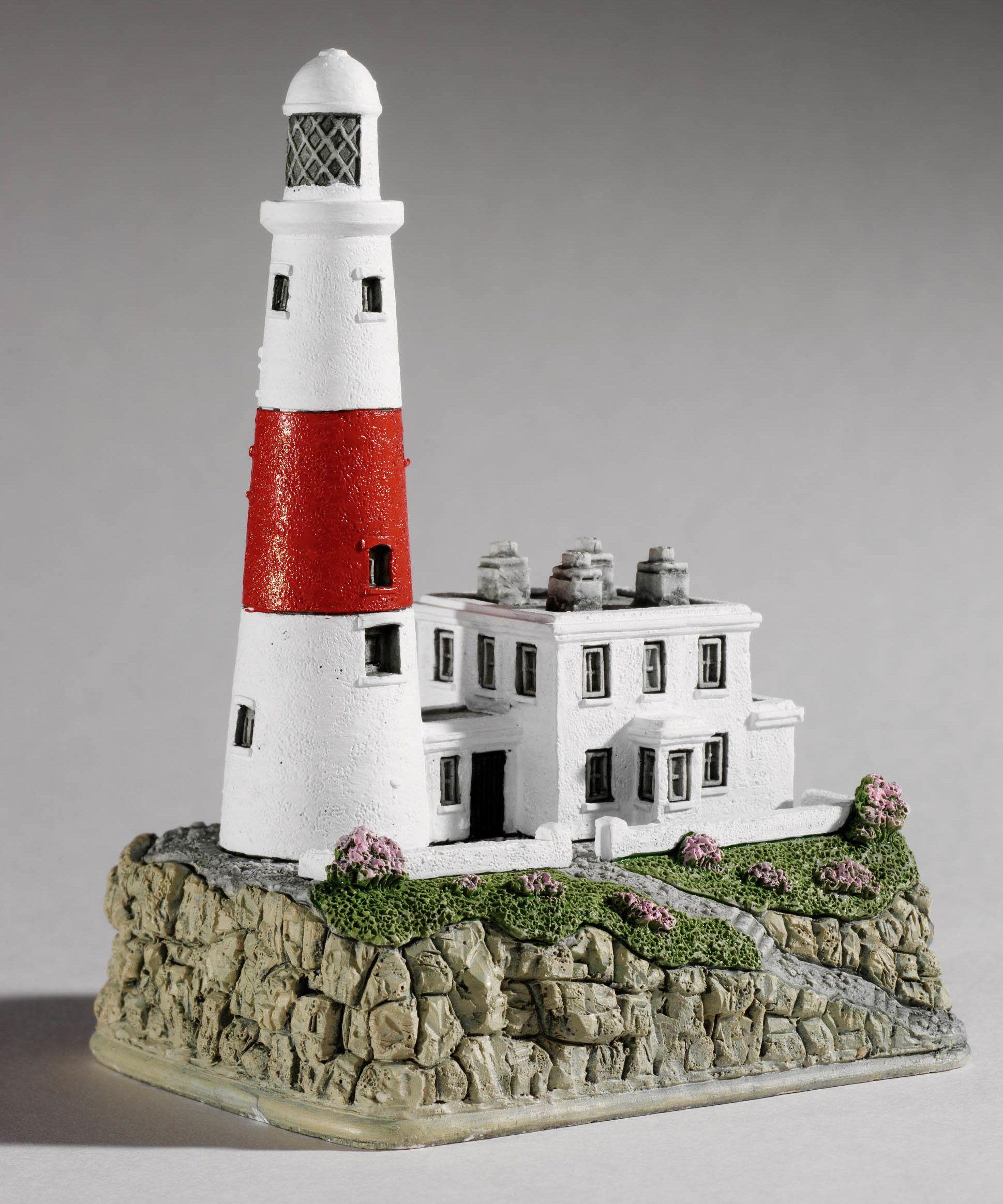 Cottage lighthouse lamp 3 colors - Lilliput Lane Portland Bill Lighthouse