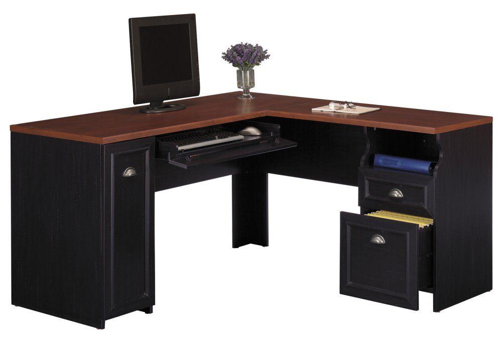 Computer Desk L Shape Fairview Collection Bush Office