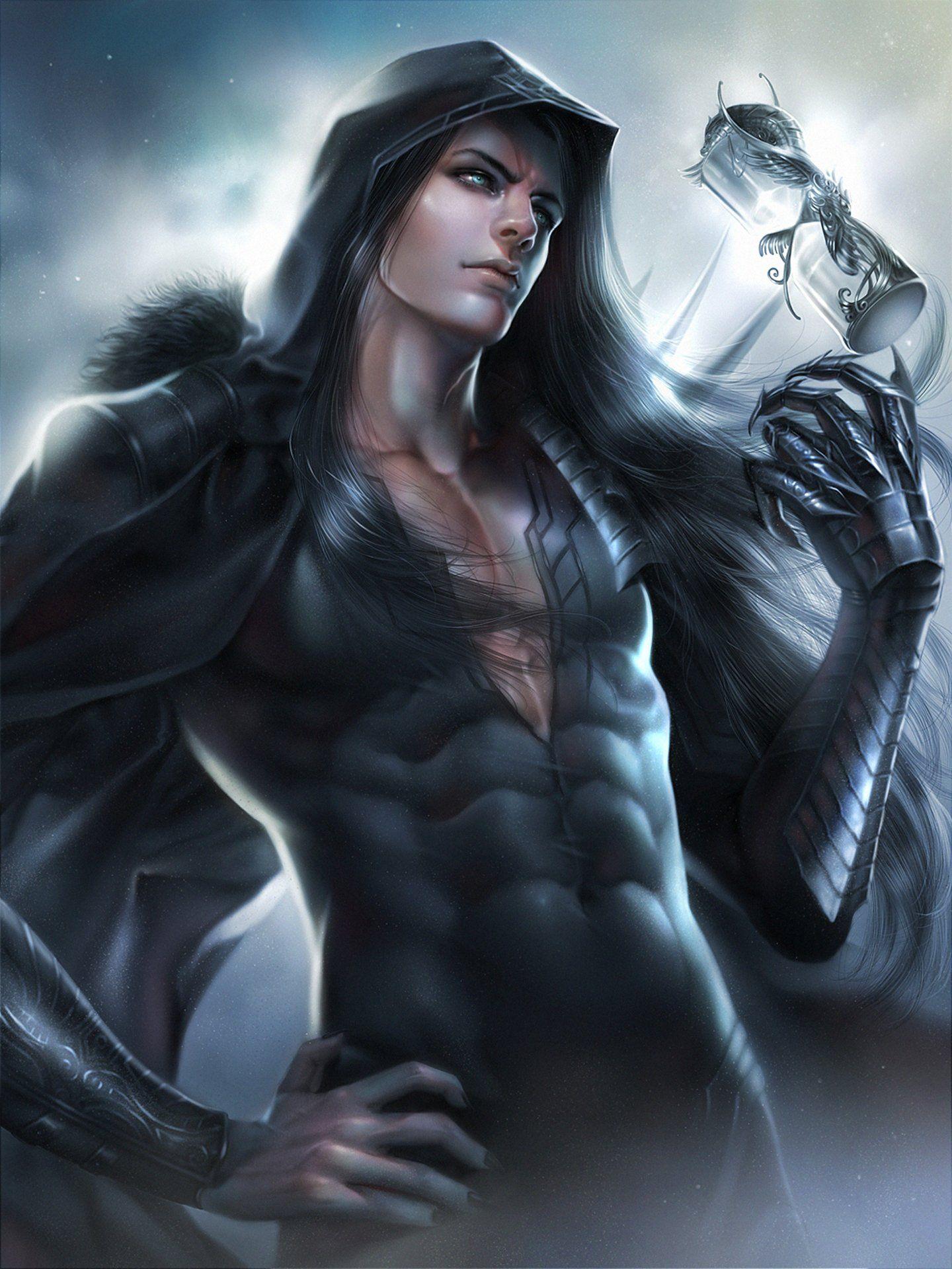 Original Fantasy Male Zeilyan Long Hair Blue Eyes Wallpaper 1440x1920 589500 Fantasy Art Men Fantasy Male Fantasy Art