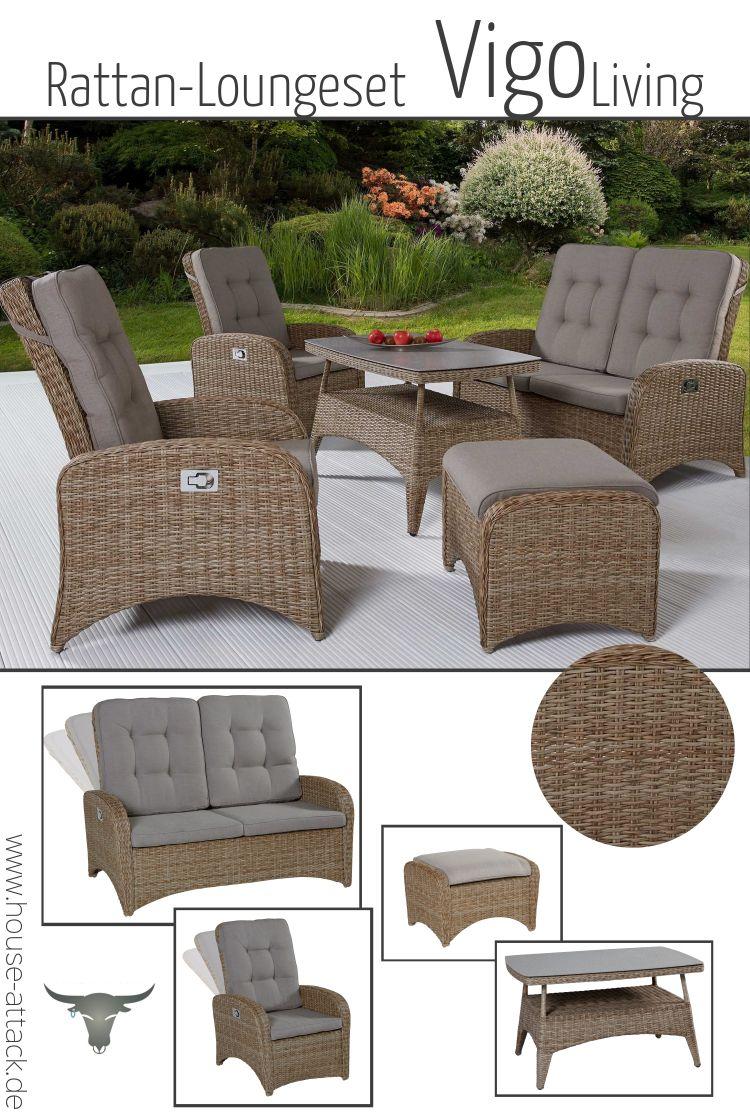 Lc Garden Loungemobel Sitzgruppe Vigo Living Set I Natur Sitzgruppe Gartenmobel Lounge Mobel