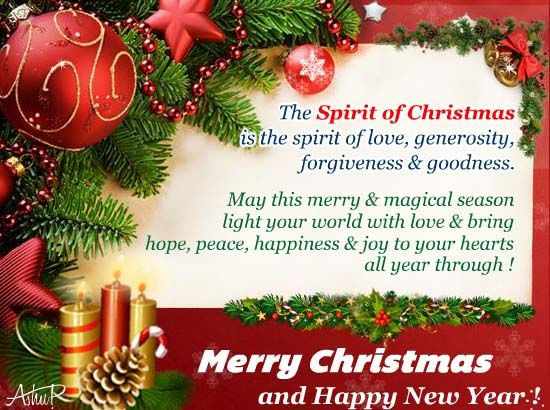 let there be merry magic all around lets get int the true spirit of christmas with this ecard merrychristmas free cards greetings wishes