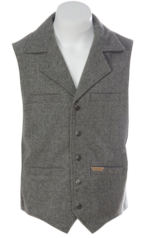 baaf5b1272b08 Panhandle Slim® Powder River™ Mens Grey Wool Montana Vest ...
