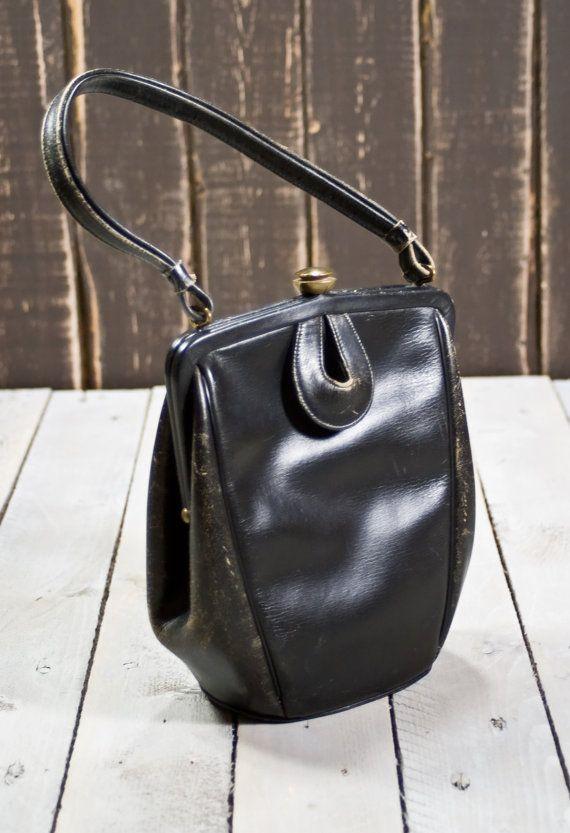 e50940038264 Vintage Margolin Leather Purse 50s Clasp by TheVintageIslandInc, $25.00
