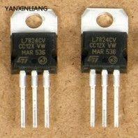 10Pcs L7824CV L7824 LM7824 7824 su