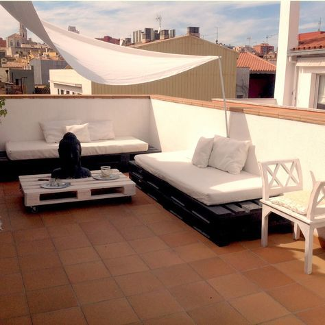 Sobesonhome Mi Terraza Chill Out De Palets Alfombras - Terraza-chill-out-con-palets