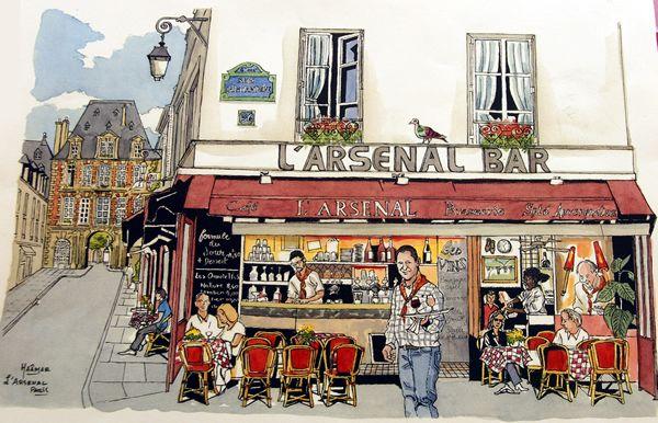 L'Arsenal, bistrot de Rouergat Sans-culottes sur la rue Saint-Antoine