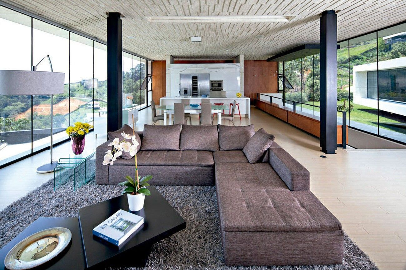 Air & glass house interiors