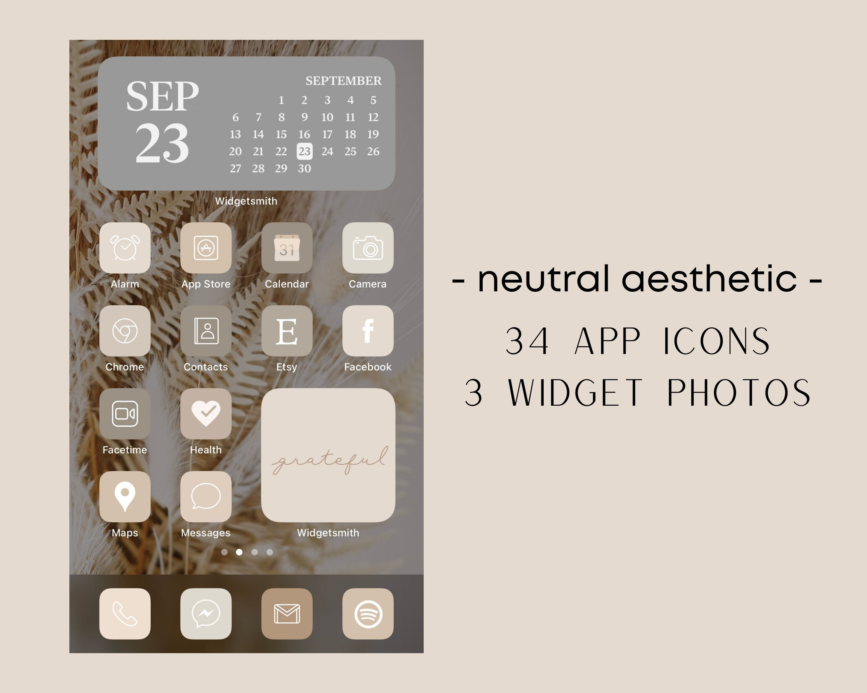 Neutral Tone Aesthetic Iphone Ios 14 App Icons 34 App Etsy In 2020 Alarm App Iphone Iphone Photos