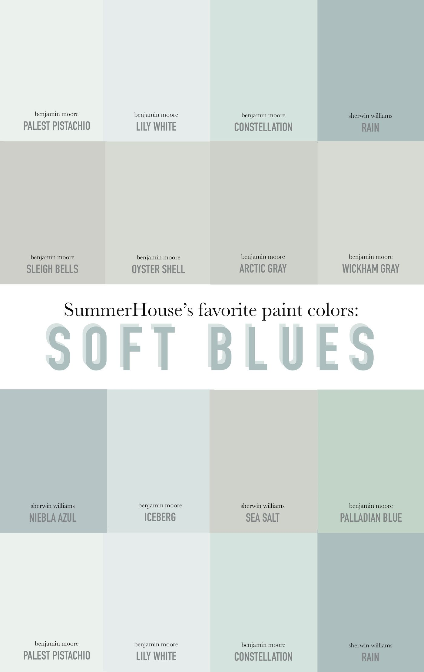 Our Favorite Soft Blue Paint Colors Always Summer Soft Blue Paint Colors Soft Blue Paint Blue Paint Colors