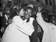 Martin Luther King, Jr. with his wife Coretta