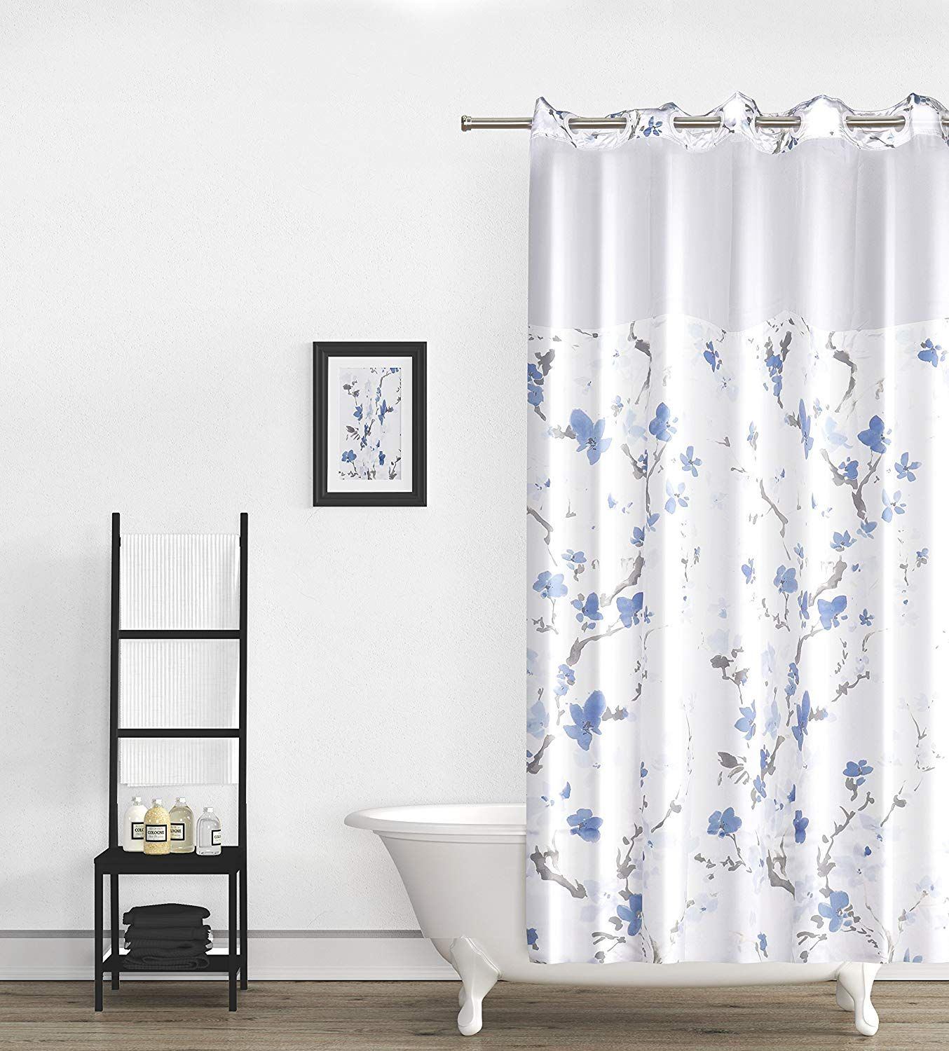 Snaphook Hookless Shower Curtain W Snap In Liner Amazon Com Ad