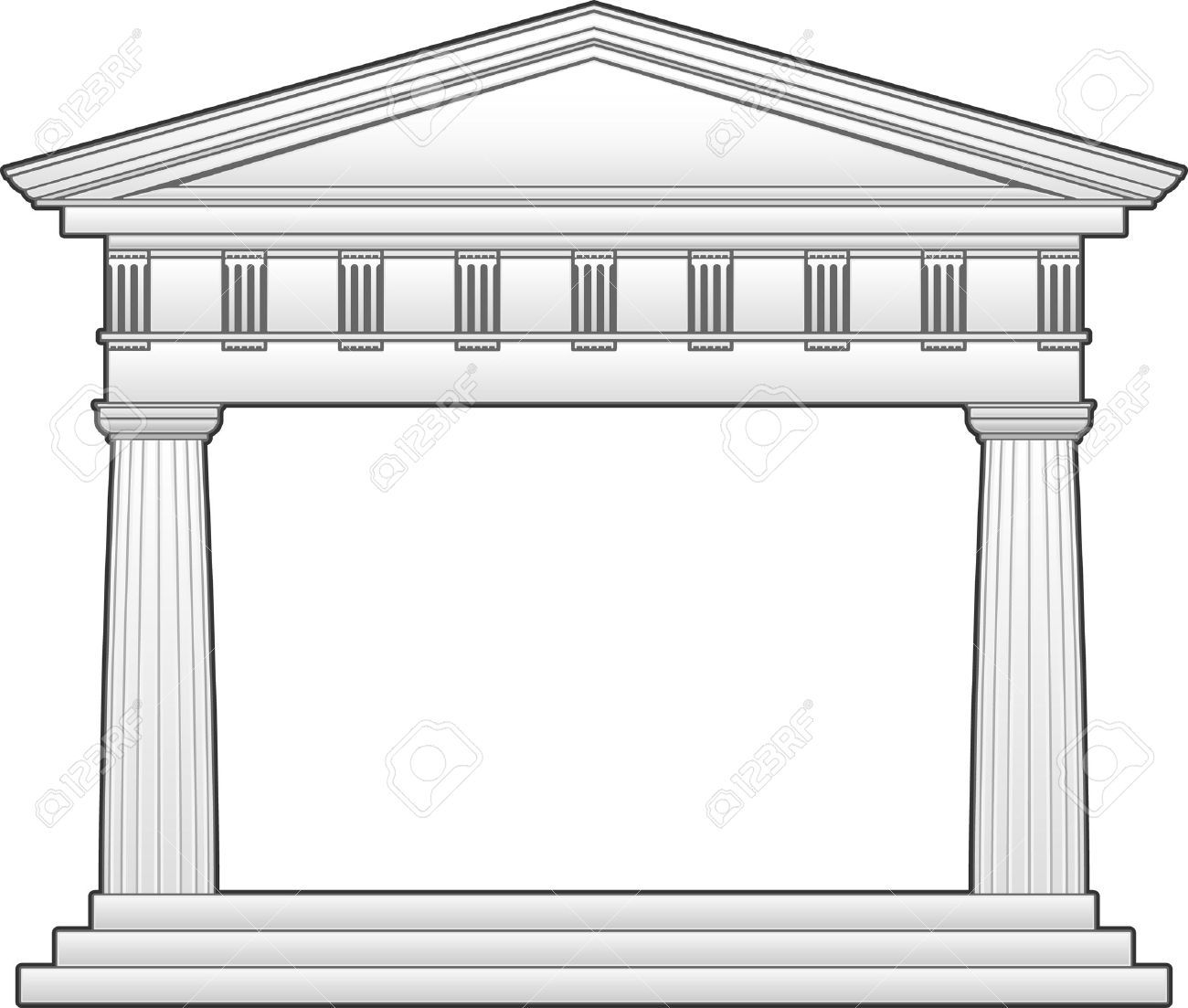 Temple Clipart Greek Building 2