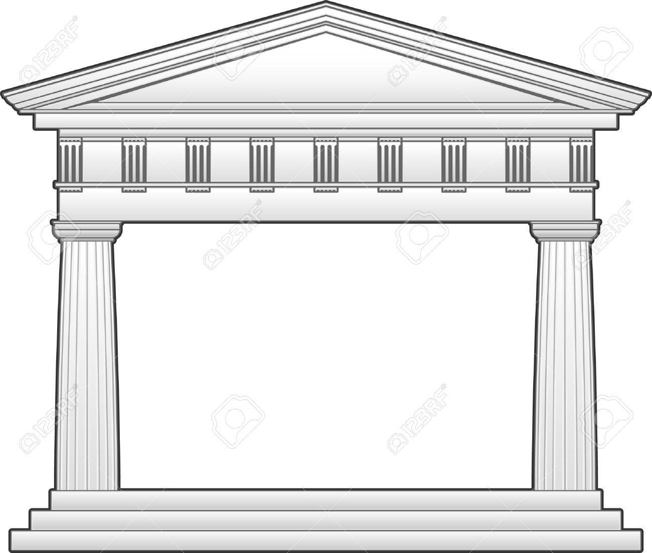 Temple Clipart Greek Building 2