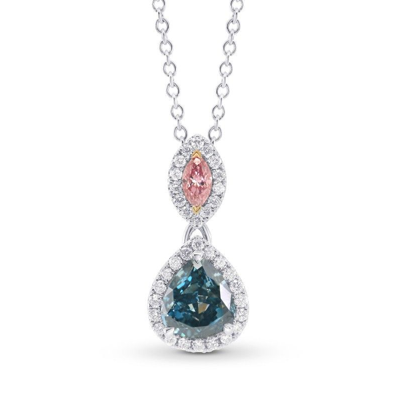 fancy shaped natural diamond global intense necklace jewelry pink heart