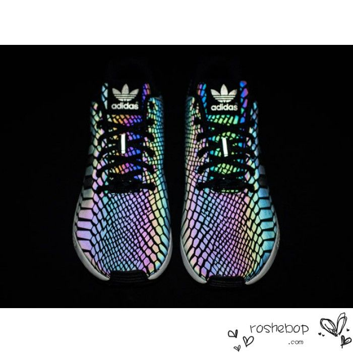 the best attitude b74f8 0fc48 Adidas ZX Flux Xeno Reflective Limited 3M Hologram B24441 Black