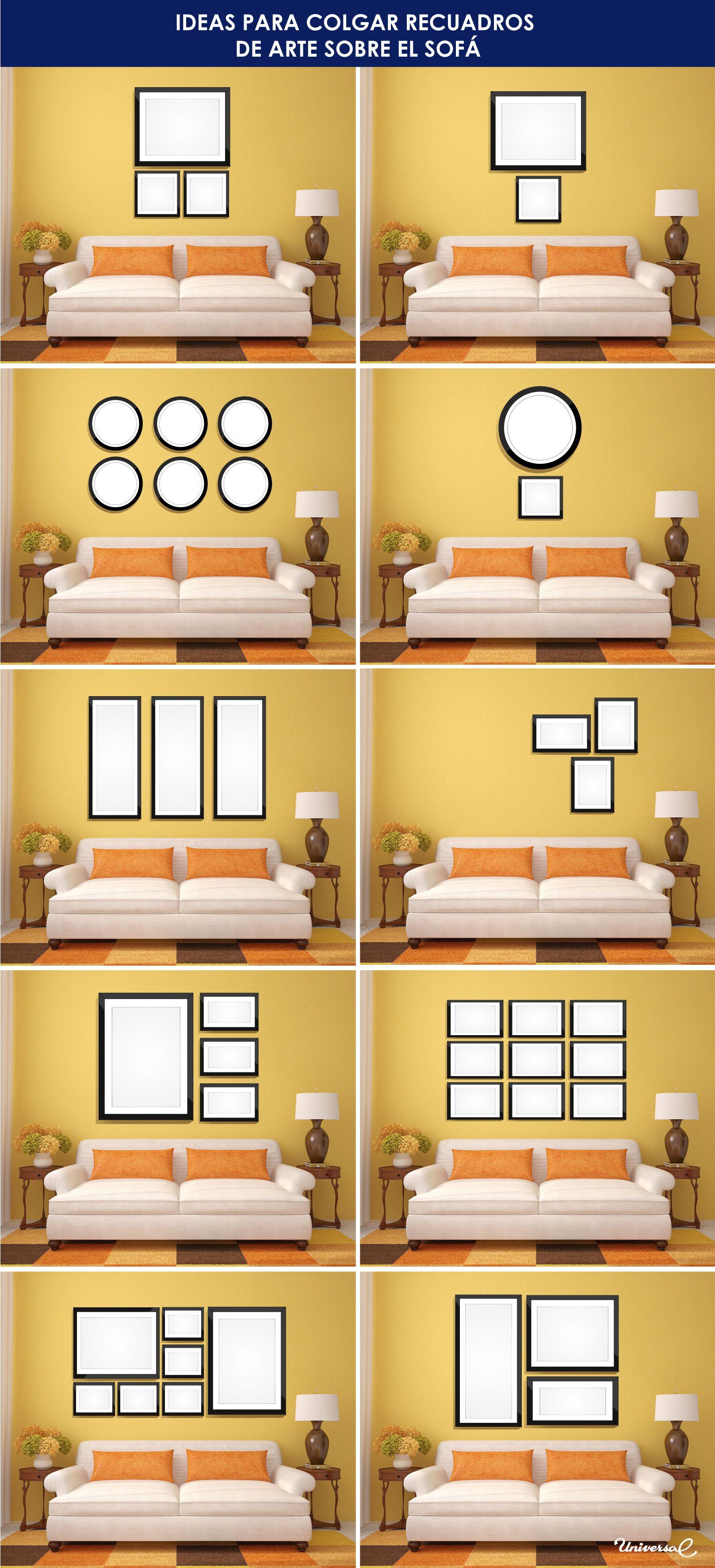 Se han preguntado sobre cómo combinar y colocar los cuadros de arte ...