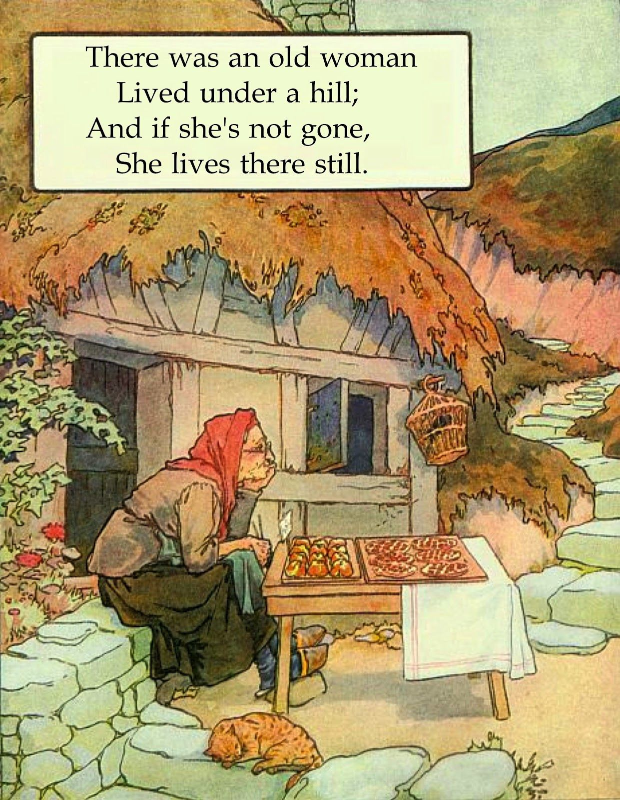 There was an Old Woman lived under a hill Nursery Rhyme ...