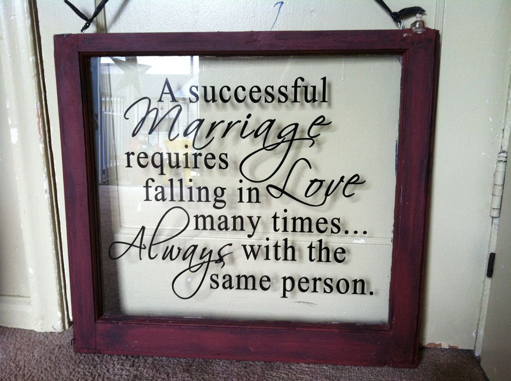 Love this saying! Great for a wedding gift or anniversary