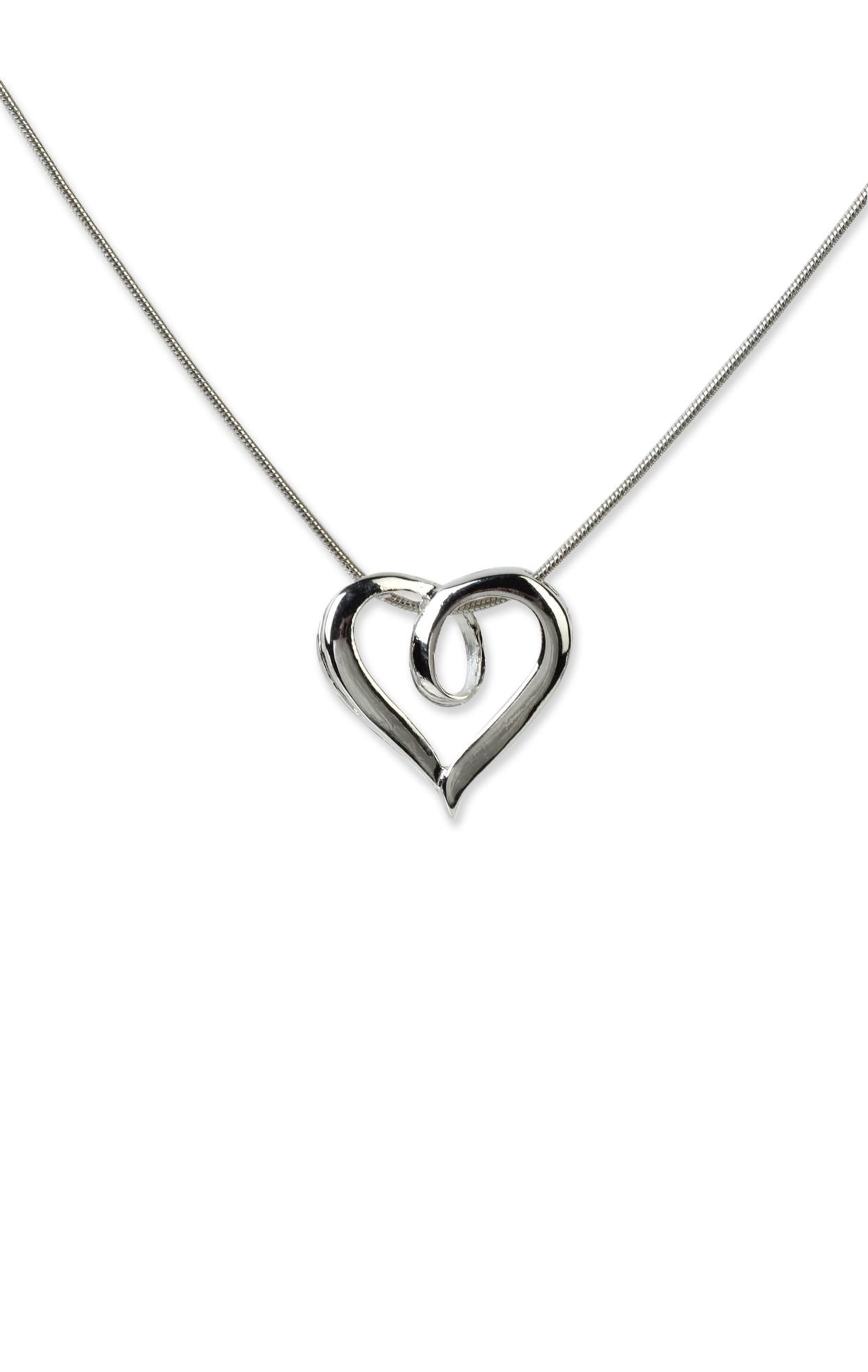 silver chain #necklace with #heart  $6.37