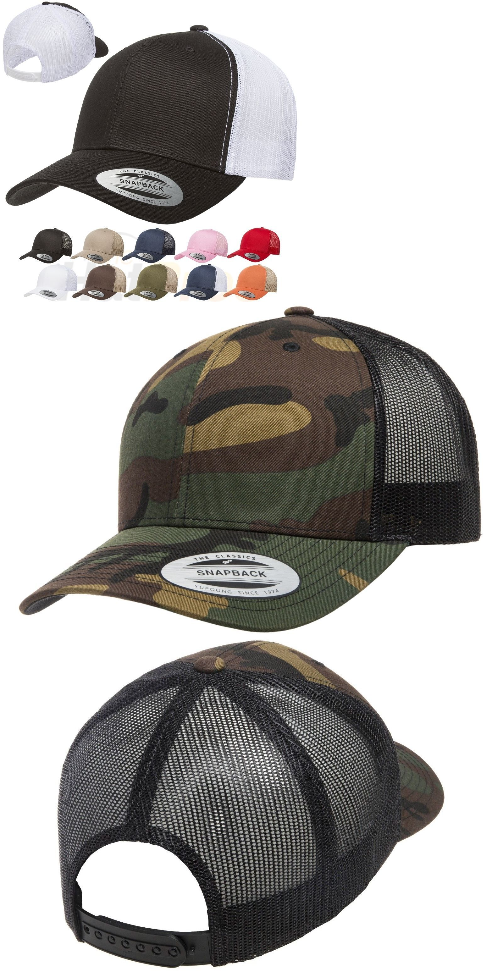 c5485ab74ccbe Hats 52365  Yupoong Classic Blank Retro Cotton Trucker Mesh Cap Snapback Hat  6606 And 6606T -  BUY IT NOW ONLY   21.8 on  eBay  yupoong  classic  blank  ...