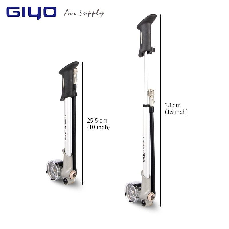 Giyo Pump 300psi High Pressure Bike Air Shock Pump For Fork And