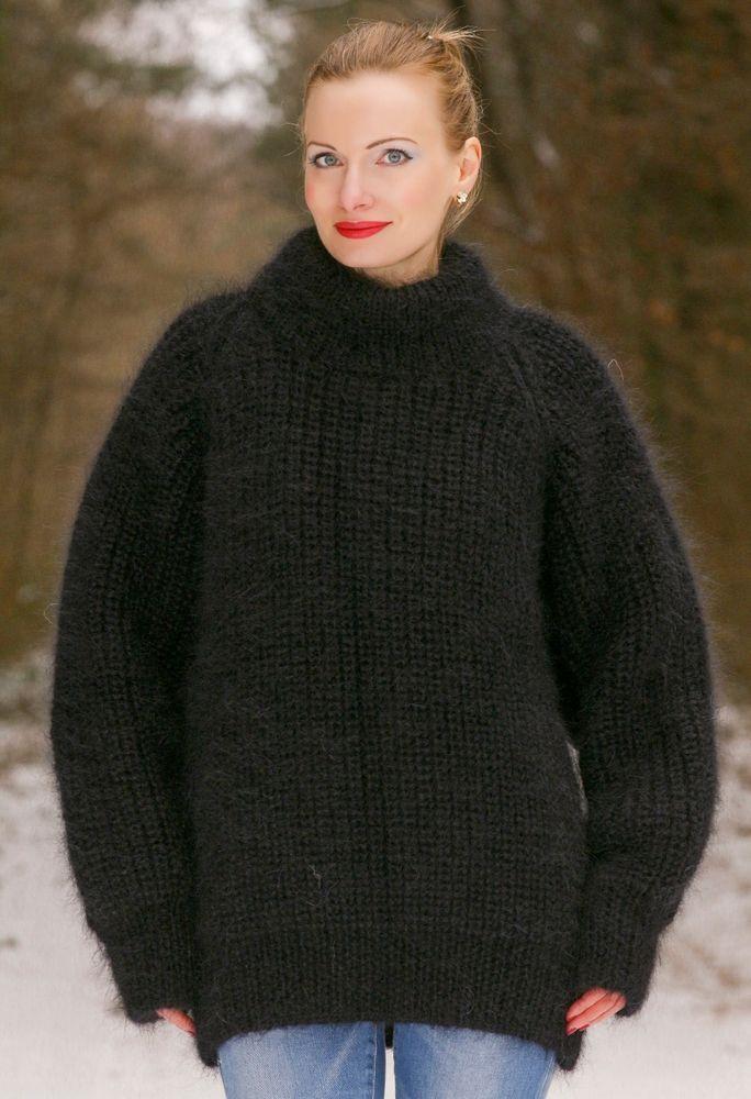WOLLE MOHAIR LANGER Cardigan Strickmantel Jacke Long Wool